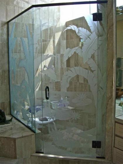 Box de Vidro Jateado para Banheiro Barueri - Box de Vidro para Banheiro Fumê