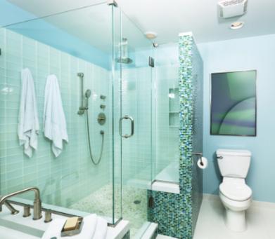 Box de Vidro Verde para Banheiro Cubatão - Box de Vidro para Banheiro Fumê