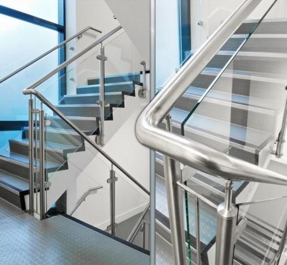 Corrimão de Alumínio com Vidro Preço Bauru - Corrimão de Alumínio
