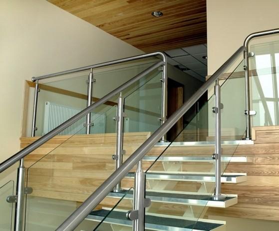 Corrimão de Alumínio com Vidro Caieiras - Corrimão de Parede de Alumínio