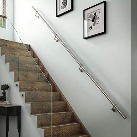 Corrimão de Inox para Escada Juquehy - Corrimão de Inox com Vidro