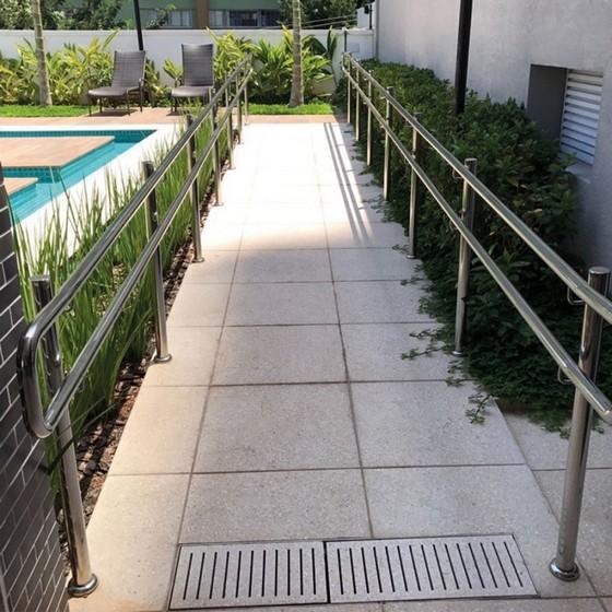 Corrimão de Rampa São Caetano do Sul - Corrimão para Rampa de Cadeirante