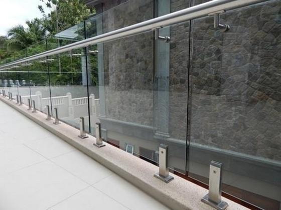 Corrimão Inox com Vidro Juquehy - Corrimão de Vidro com Inox