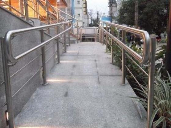 Corrimão para Rampa de Acesso Preço Ribeirão Pires - Corrimão para Rampa de Cadeirante