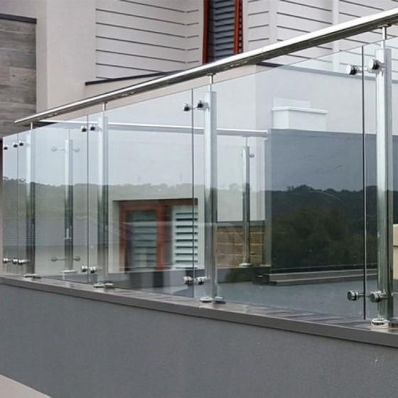 Corrimão Vidro com Inox Juréia - Corrimão de Escada Inox