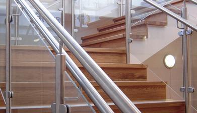 Empresas Que Fazem Corrimão de Vidro com Inox Peruíbe - Corrimão de Escada de Inox