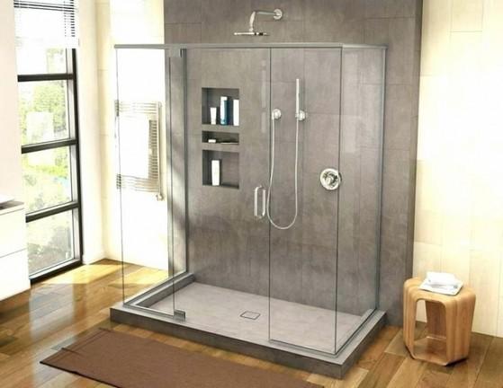 Montagem de Box para Banheiro de Vidro Temperado Amparo - Box de Vidro para Banheiro Verde
