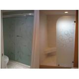 box de vidro jateado para banheiro orçar Iguape