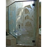 box de vidro jateado para banheiro Parque Dom Pedro
