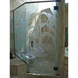box de vidro jateado para banheiro Barueri