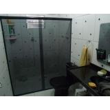 box de vidro para banheiro fumê Brás