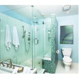 box de vidro para banheiro verde Cerqueira César