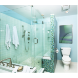 box de vidro verde para banheiro Santa Isabel