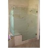 boxes de vidro jateado para banheiro Amparo