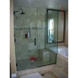 boxes de vidro para banheiro verde Santa Efigênia