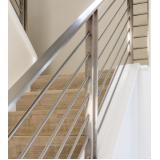 colocação de guarda corpo de inox para escada Sé