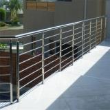 colocação de guarda corpo escada inox Suzano