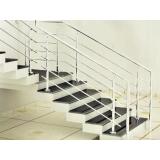 corrimão de alumínio para escada preço Hortolândia