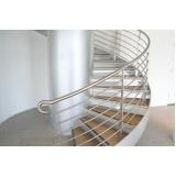 corrimão de alumínio para escada Vila Buarque