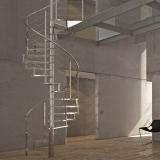 corrimão de escada de inox
