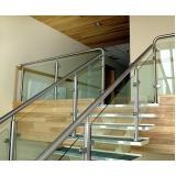 corrimão de inox na escada Biritiba Mirim