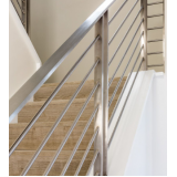 corrimão de inox para escada orçamento Luz
