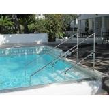 corrimão de inox para piscina Santa Efigênia