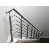 corrimão escada alumínio Cerqueira César
