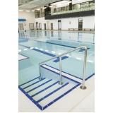 corrimão inox para piscina Embu