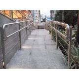 corrimão para rampa de acesso preço Hortolândia