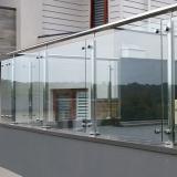 corrimão vidro com inox ABCD