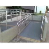corrimãos para rampa de acessibilidade Praia de Camburi