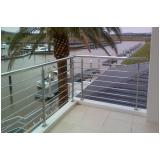 guarda corpo de inox para escada valores Praia de Juquehy