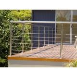 guarda corpo de inox para escada Itu