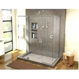 montagem de box para banheiro de vidro temperado Sé