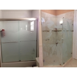 onde encontro box de vidro jateado para banheiro Mongaguá
